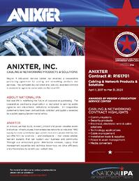 Anixter - National IPA - Network and Cabling Flyer-2017
