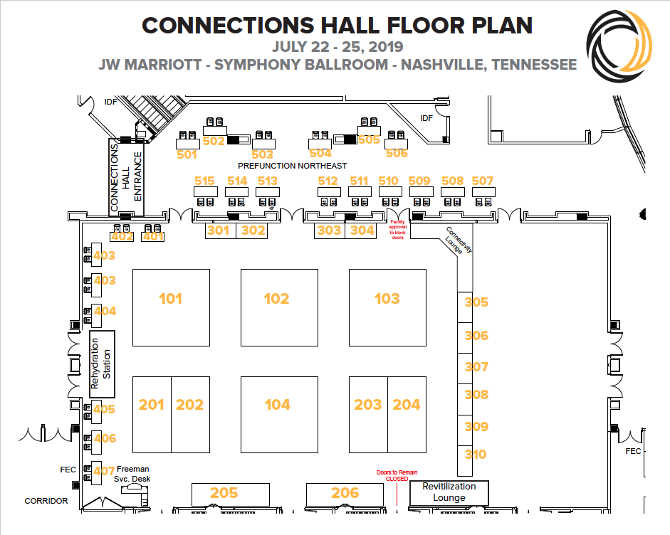 Connections 2019 Floor Plan