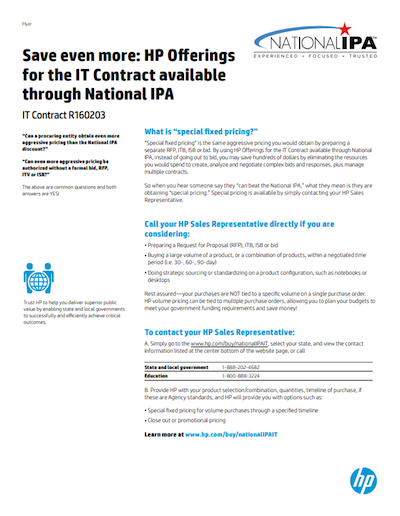 HP inc. Flyer