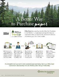 Office Depot  The Arbor Day Foundation - Tree Up Sell Sheet