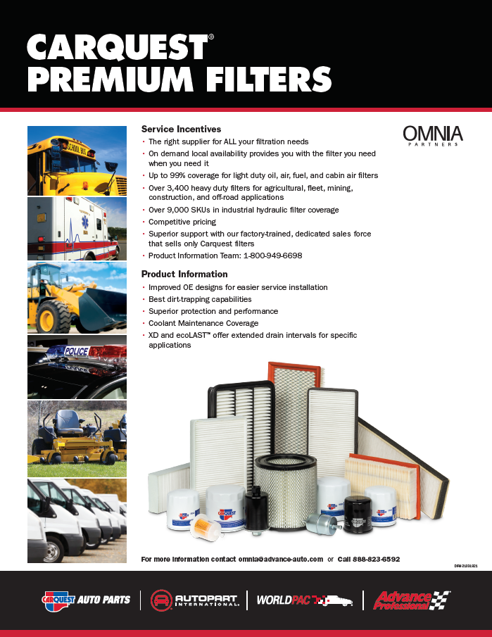 PUBLIC | Advance Auto | filters flyer