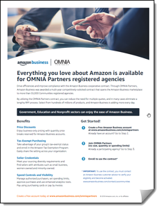 Amazon Business and OMNIA Partners