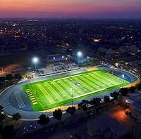 synthetic turf football field