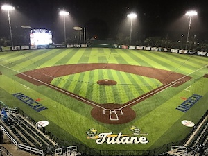 Tulane university baseball diamond