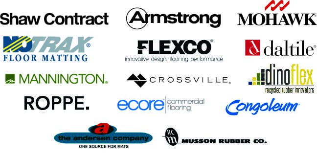 Manufacturer logos aligned in a block
