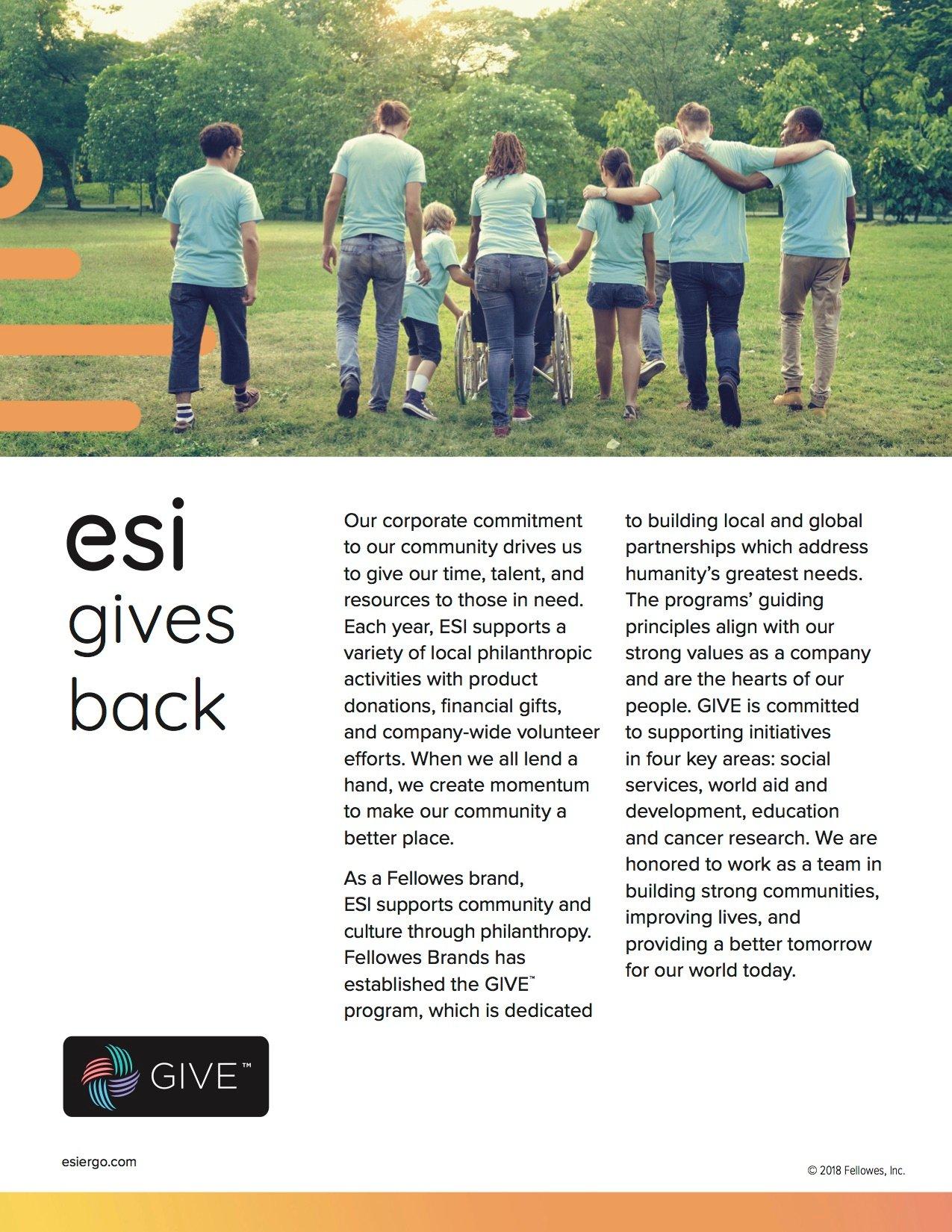 ESI_Gives Back
