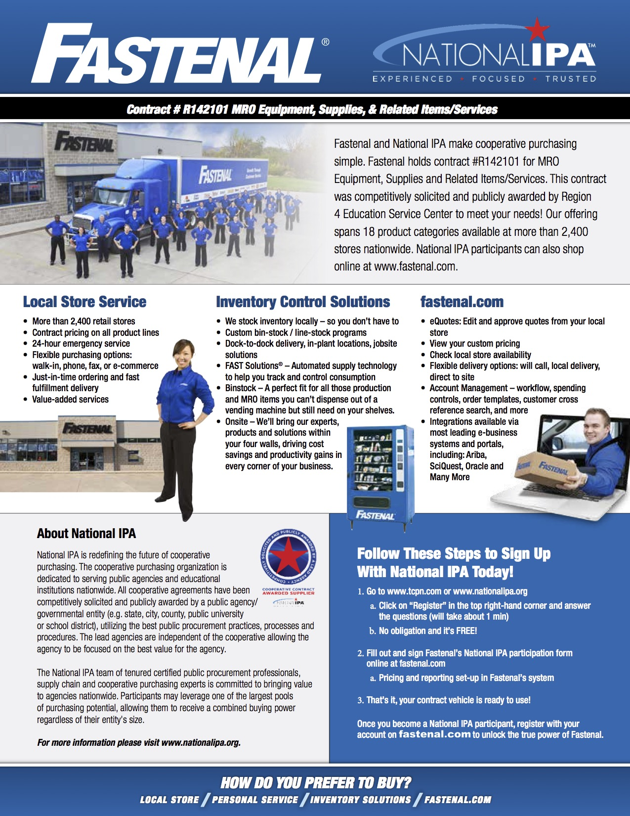 ONE BRAND Fastenal Linecard