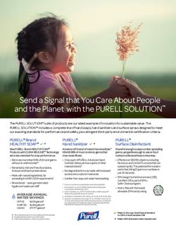 GOJO Sustainability Sell Sheet