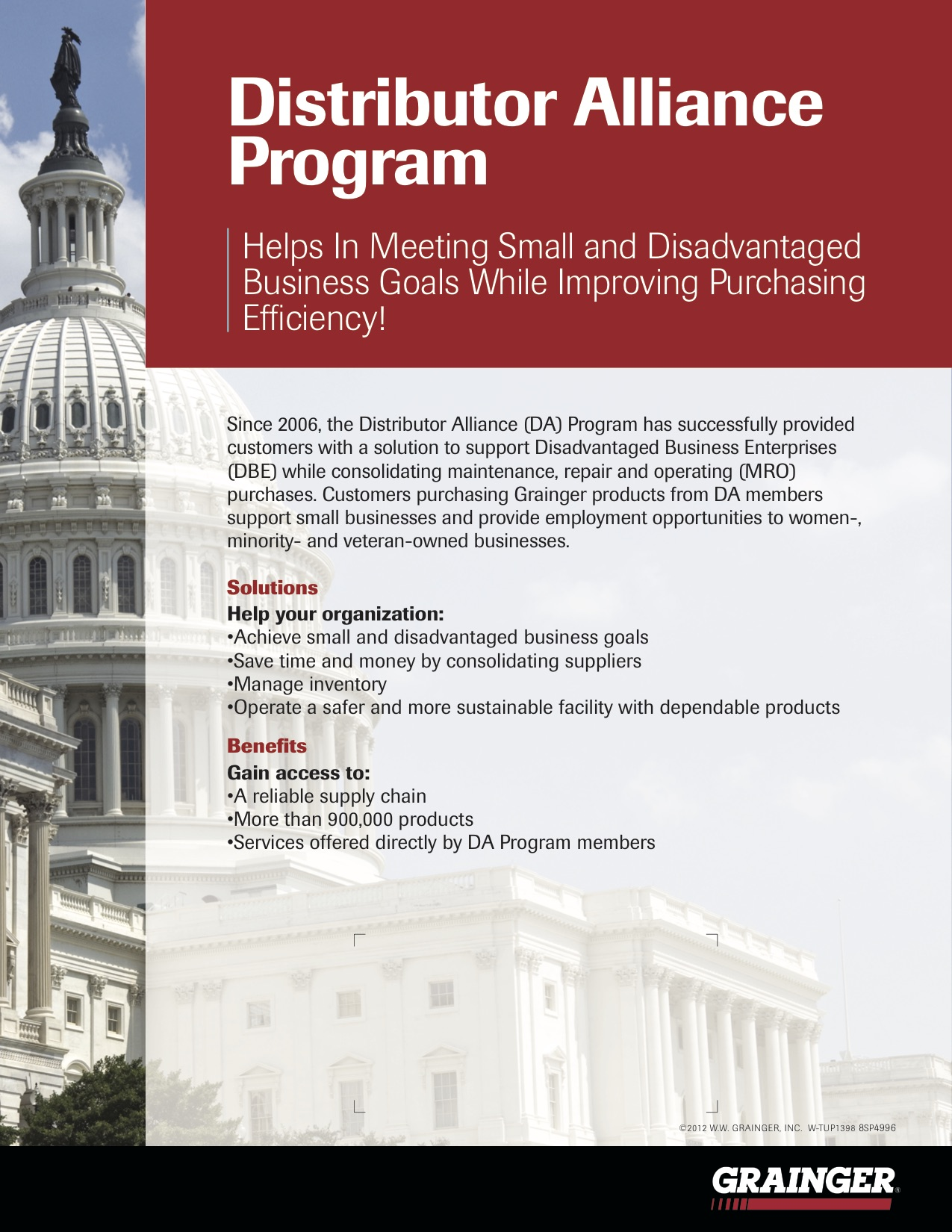 Grainger Distributor Alliance Program