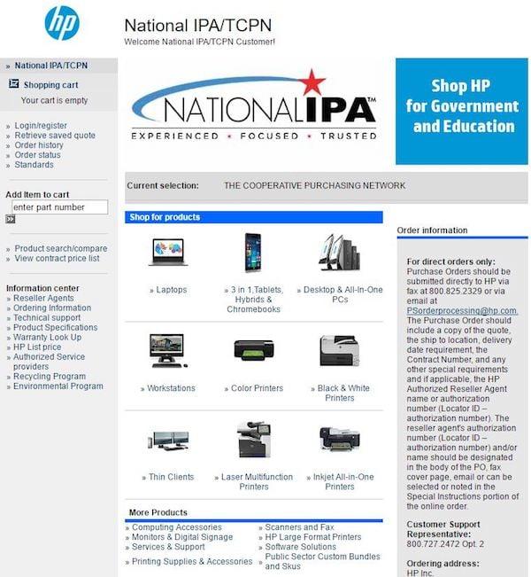 HP National IPA Website Image 2017