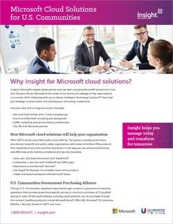 Microsoft cloud solutions image