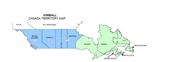 Canada Territory Map