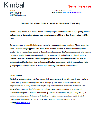 Helio Press Release