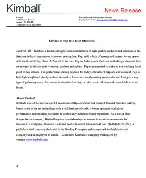 Pep press release