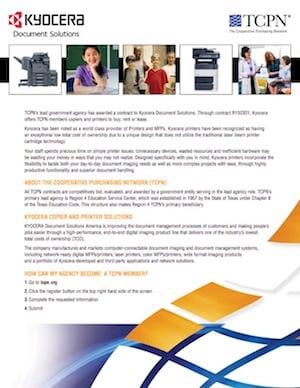 kyocera copiers printers contract