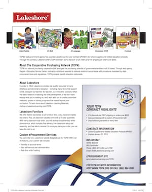 TCPN-0423_Lakeshore Learning Co-Branded Flyer