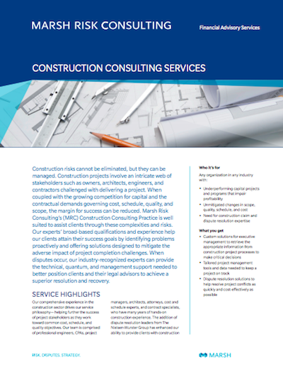 Construction Consulting Services