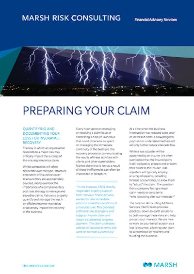 Preparing Your Claim