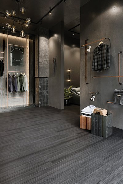 Secoya flooring in a clothing store