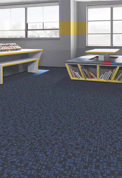 chilled check carpeting in a classroom