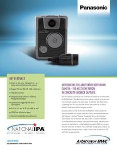 Arbitrator Body Worn Camera Co-branded Flyer