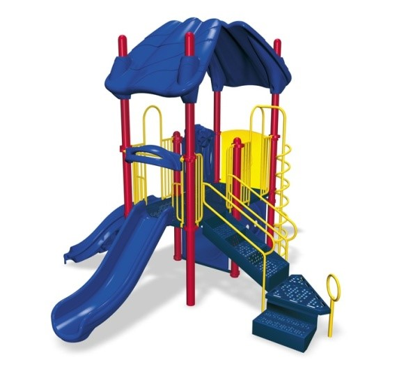 yellow and blue playground