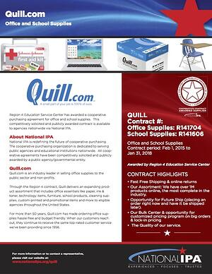 National IPA-Quill 2016 Flyer