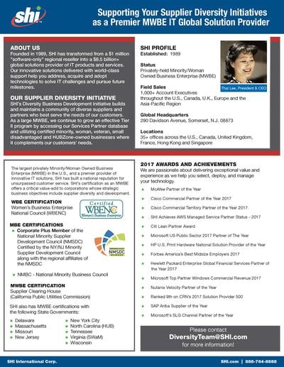 SHI diversity one sheet PDF thumbnail