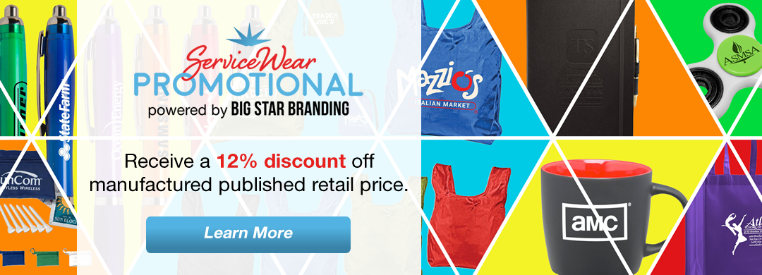 ServiceWear promotional call-to-action for a 12 percent discount