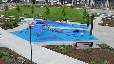 Blue Mission Bay Playground