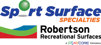Sports Surface Specialties and Robertson Recreation Surfaces Logos