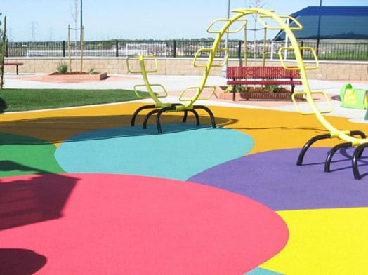 Colorful Park Surface