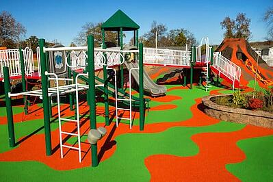 Playground With Play Volcano