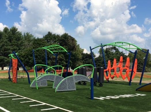 playground on sunny day