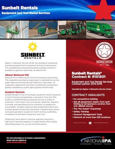 SunbeltRentalsContractFlyerEmail