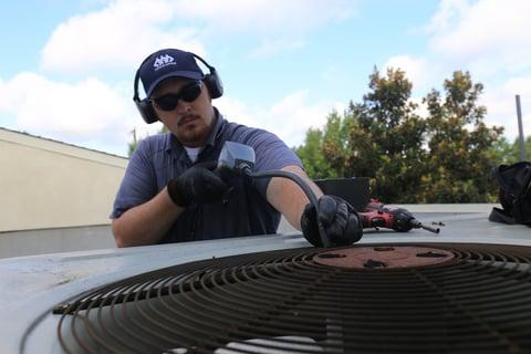 man working on a HVAC