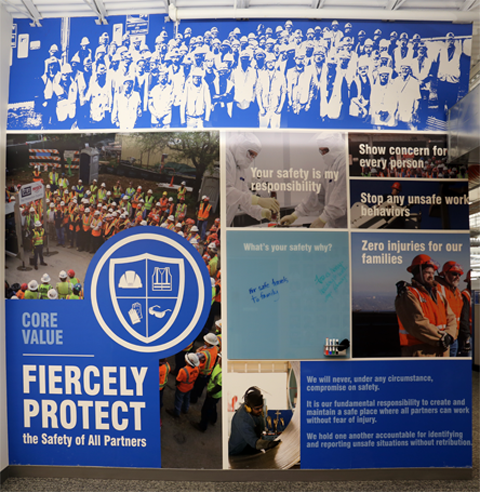 Safety program decorative wall