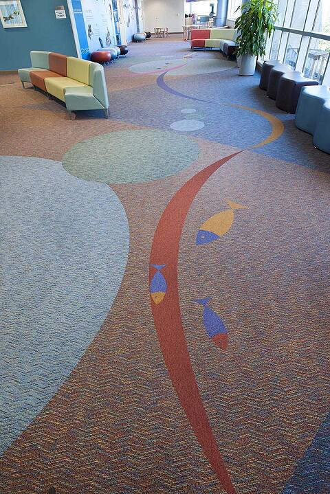 Imaginations custom flooring colorful with fishes