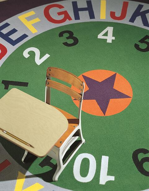 Imaginations custom alphabet and numerical flooring