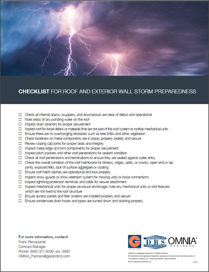 Garland Storm Ready Checklist