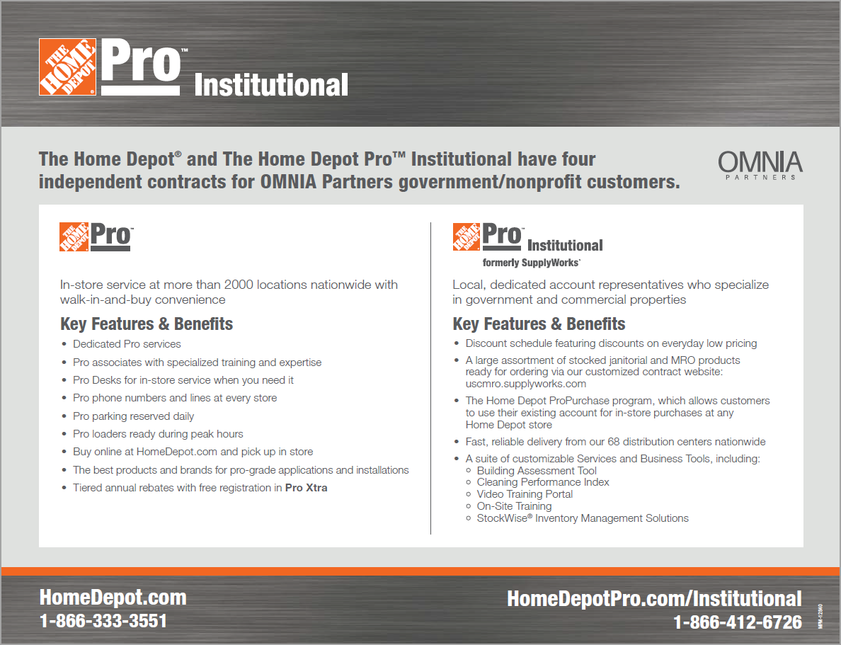 The Home Depot Pro Contract Flyer