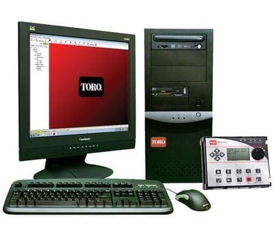 computer setup with toro program on screen