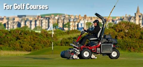 maintenance cart on a golf course