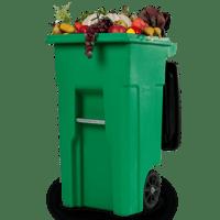 produce in a garbage bin
