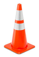 28-inch Orange Cone with Reflective Collars