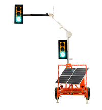 Portable Solar Traffic Signal Dual Head Continuous Operation
