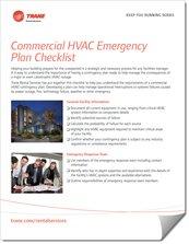 Trane Commercial HVAC Emergency Checklist
