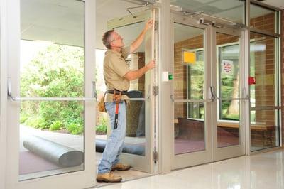 Canam door being installed