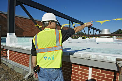 General Contracting during a roof installation