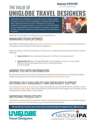 UniglobeTD National IPA flyer thumbnail
